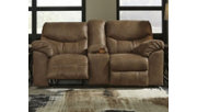 Boxberg Power Reclining Loveseat with Console, Bark, rollover