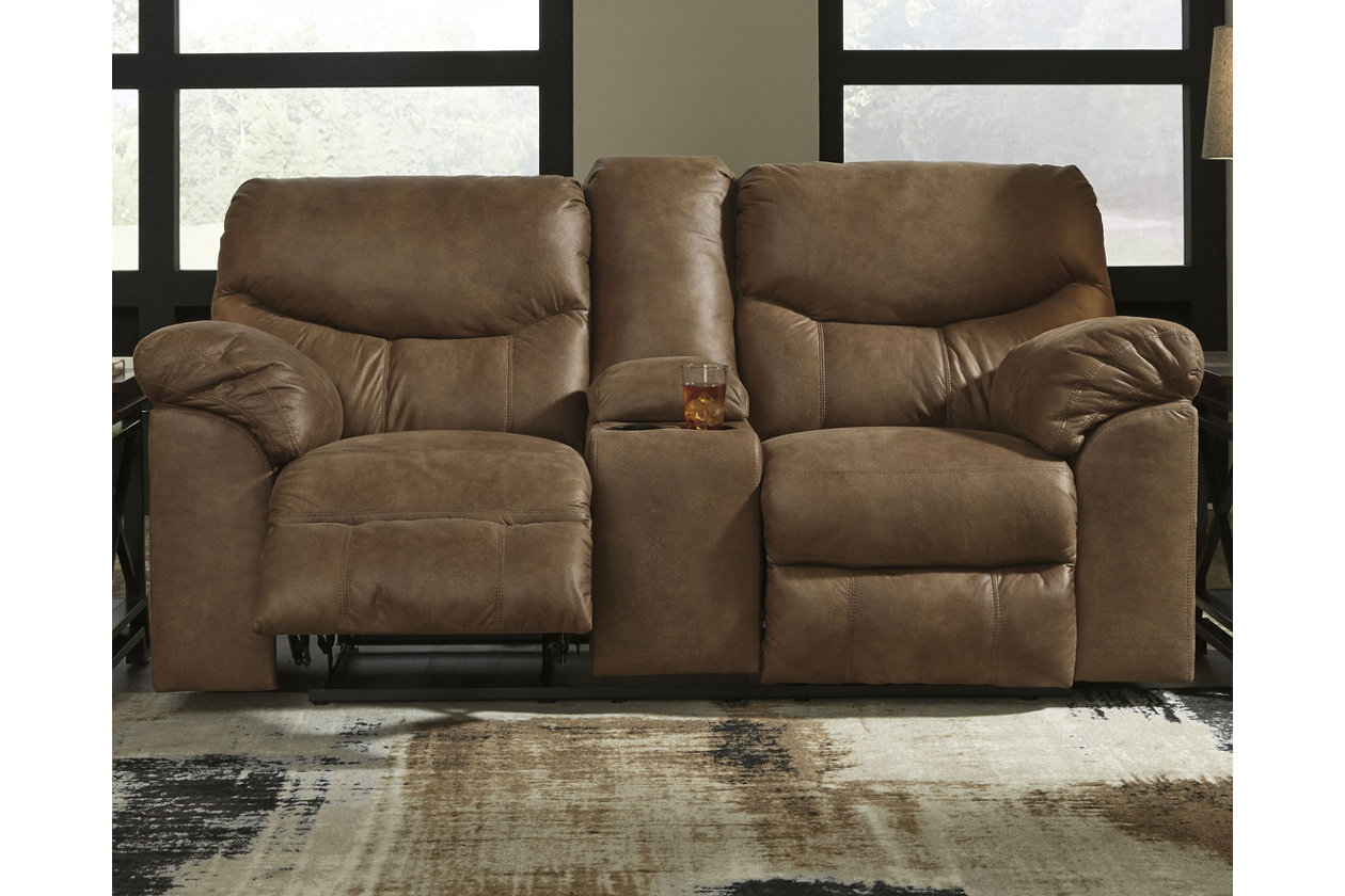 Remarkable Boxberg Power Reclining Loveseat With Console Ashley Dailytribune Chair Design For Home Dailytribuneorg
