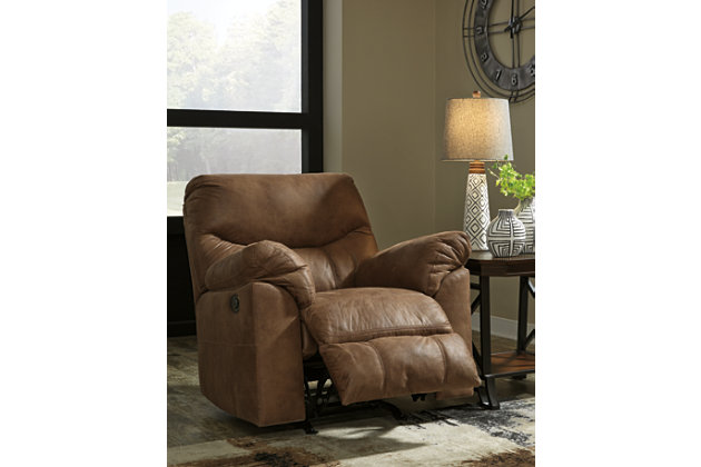 Boxberg Power Recliner, Bark, large
