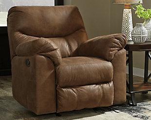 Boxberg Power Recliner, Bark, rollover
