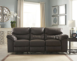Boxberg Power Reclining Sofa, Teak, rollover
