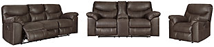 Boxberg Sofa, Loveseat and Recliner, Teak, large