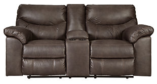 Boxberg Reclining Loveseat with Console, Teak, large