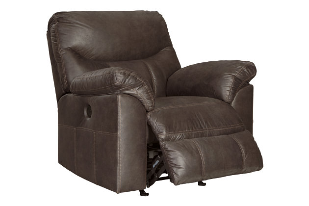 Boxberg Power Recliner, Teak, large