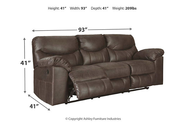 Boxberg Reclining Sofa, Teak, large