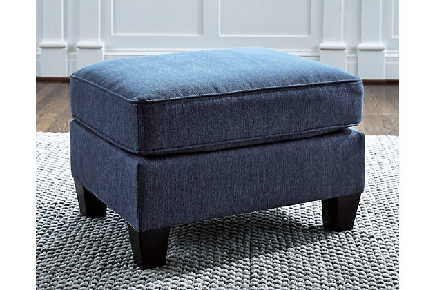Charmant Slagle Ottoman, Pacific, Large ...