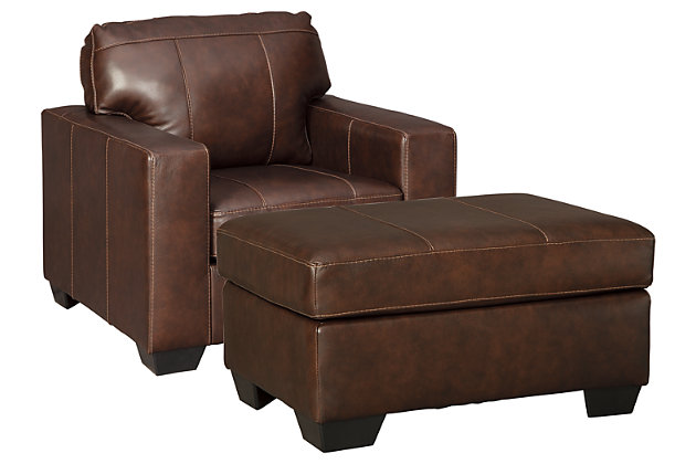 Morelos Chair and Ottoman, Chocolate, large