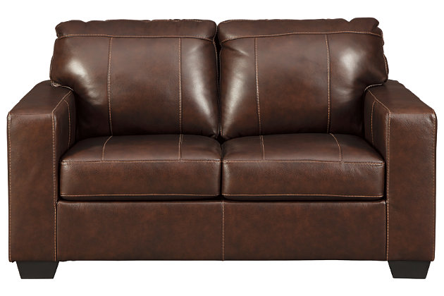 Morelos Loveseat, Chocolate, large