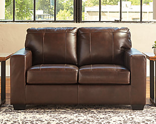 Morelos Loveseat, Chocolate, rollover