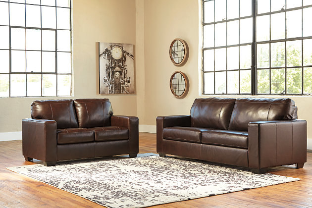 Morelos Sofa and Loveseat, Chocolate, large