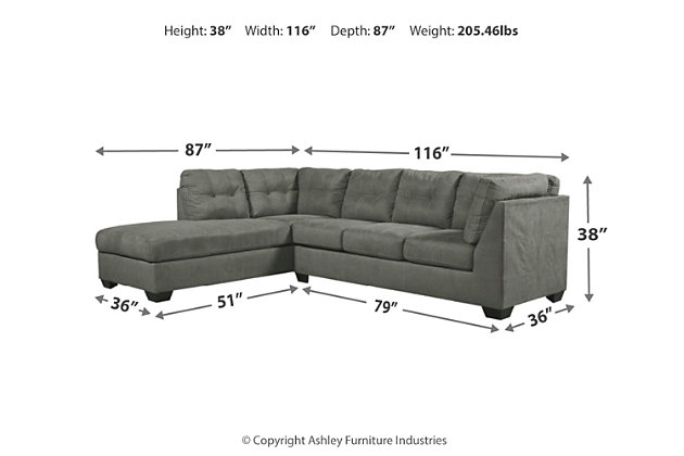 Pitkin 2-Piece Sectional with Chaise, , large