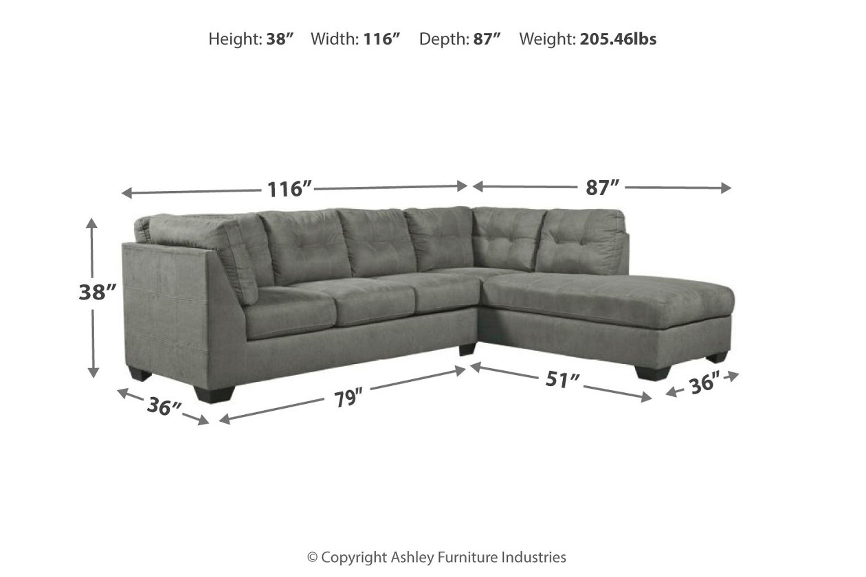 new concept aa5ee 85a92 Pitkin 2-Piece Sectional with Chaise | Ashley Furniture ...