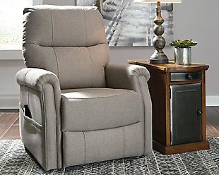 Markridge Power Lift Recliner, Gray, rollover