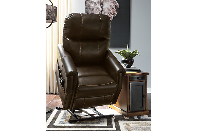 Markridge Power Lift Recliner, Chocolate, large