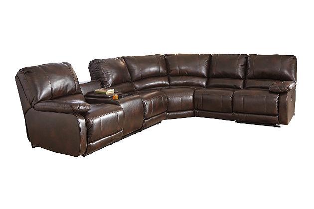 Hallettsville 4 Piece Sectional W Power Ashley Furniture Homestore