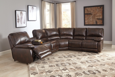 Ashley Hallettsville 4 Piece Sectional With Power, Saddle