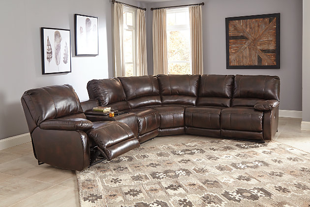 Hallettsville 4 Piece Sectional With Power Ashley