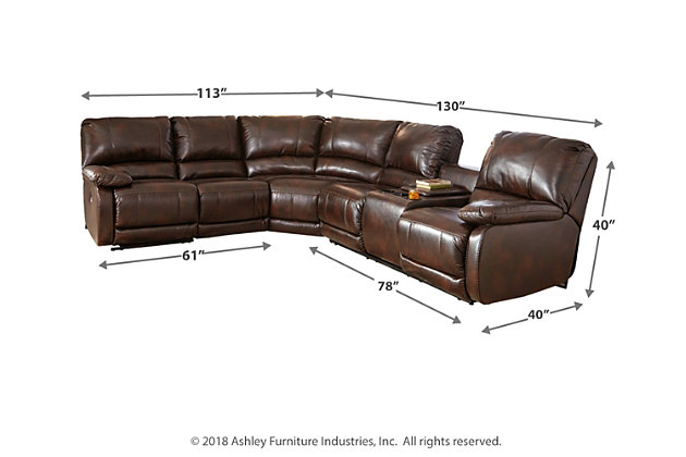 Excellent Hallettsville 4 Piece Sectional With Power Ashley Short Links Chair Design For Home Short Linksinfo