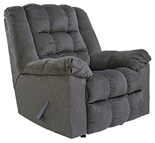 Drakestone Recliner, Charcoal, large