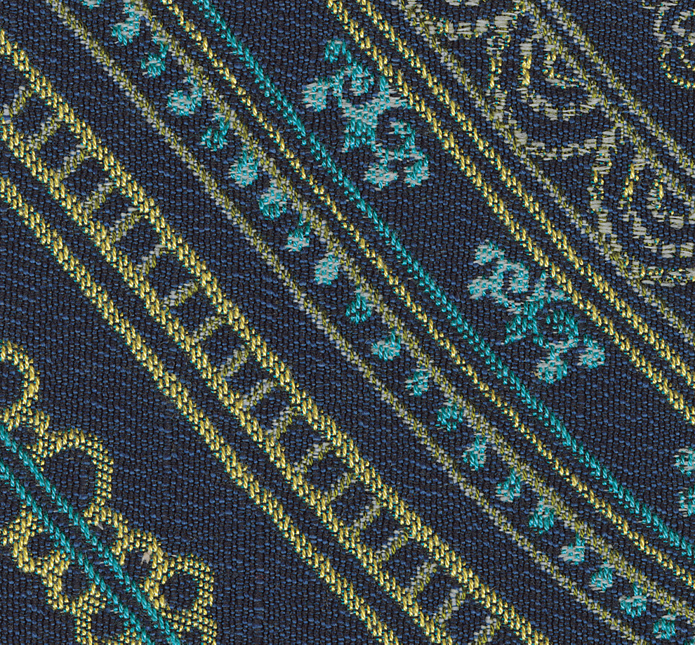 Harahan Series Indigo Blue Pattern Accent Fabric Swatch