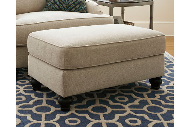 Harahan Ottoman by Ashley HomeStore, Tan, Polyester (100 %)