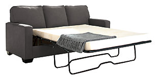 Zeb Full Sofa Sleeper, Charcoal, large