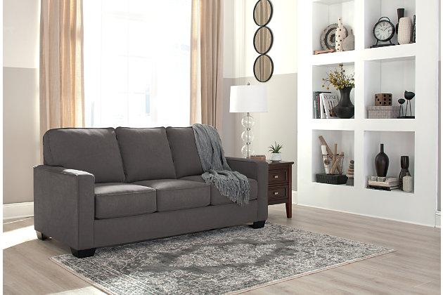 Zeb Full Sofa Sleeper by Ashley HomeStore, Gray, Polyeste...