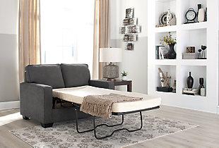 Zeb Twin Sofa Sleeper, Charcoal, large