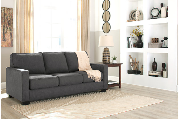 Zeb Queen Sofa Sleeper by Ashley HomeStore, Gray, Polyest...