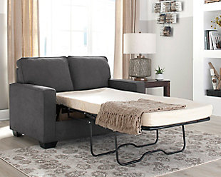 Zeb Twin Sofa Sleeper, Charcoal, rollover