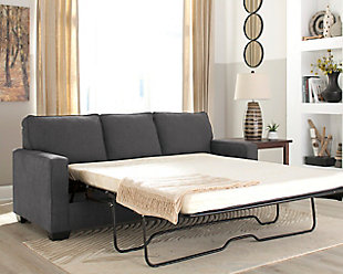 Zeb Queen Sofa Sleeper, Charcoal, rollover