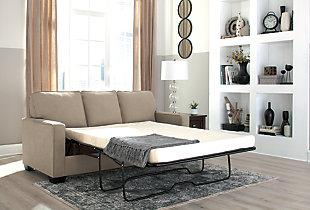 Zeb Full Sofa Sleeper, Quartz, large