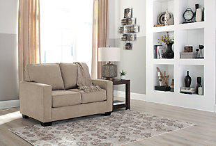 Zeb Twin Sofa Sleeper, Quartz, large