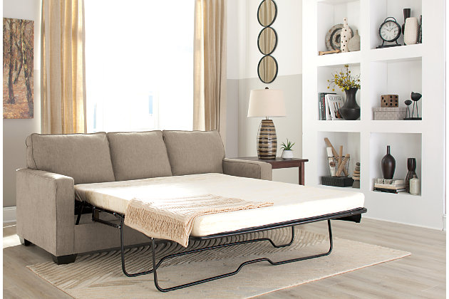 Zeb Queen Sofa Sleeper, Quartz, large
