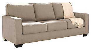 Zeb Queen Sofa Sleeper, Quartz, large