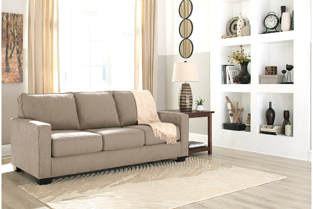Zeb Queen Sofa Sleeper, Quartz, Large ...