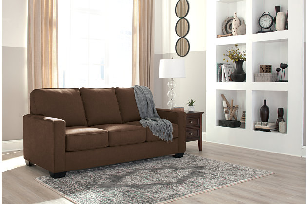Zeb Full Sofa Sleeper by Ashley HomeStore, Brown, Polyest...
