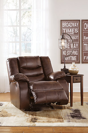 Neverfield Recliner, Chocolate, large