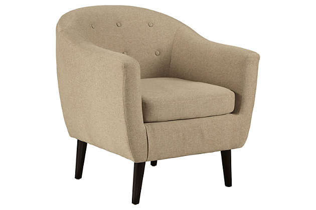 Klorey Chair by Ashley HomeStore, Khaki, Polyester (100 %)