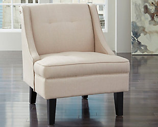 Clarinda Accent Chair, Cream, rollover