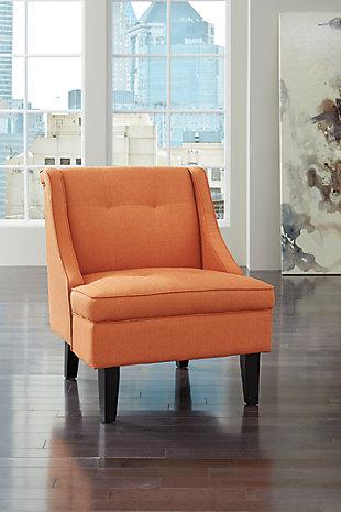Clarinda Accent Chair, Orange, large
