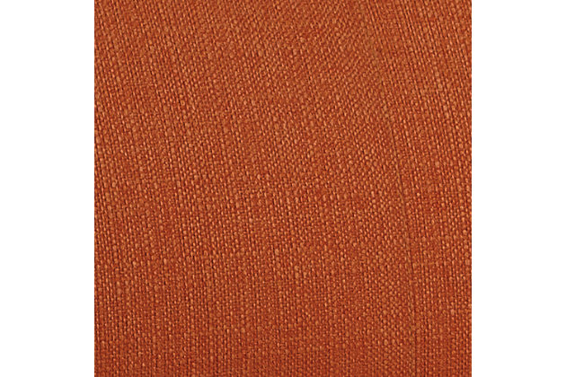 orange clarinda accent chair view 5