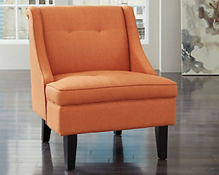 Clarinda Accent Chair, Orange, rollover