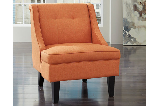 Clarinda Accent Chair, Orange, large