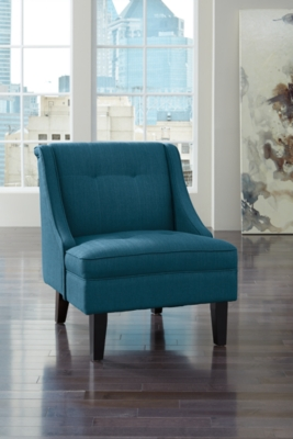 Clarinda Accent Chair, Blue, large