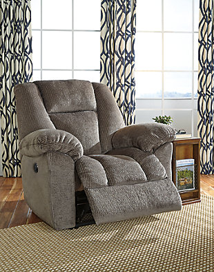 Nimmons Power Recliner, Taupe, rollover