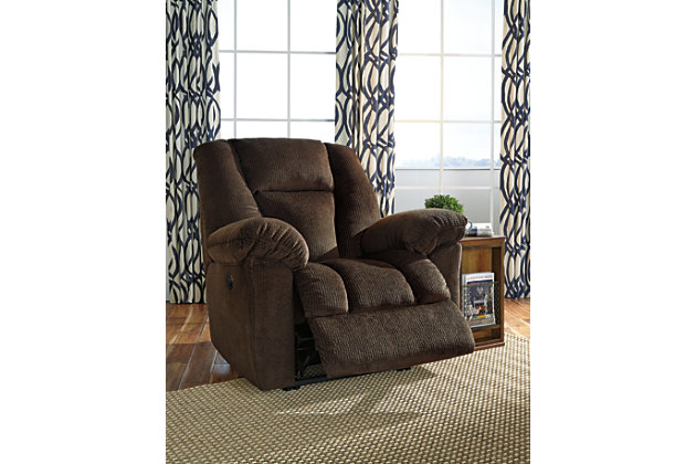 Nimmons Power Recliner, Chocolate, large