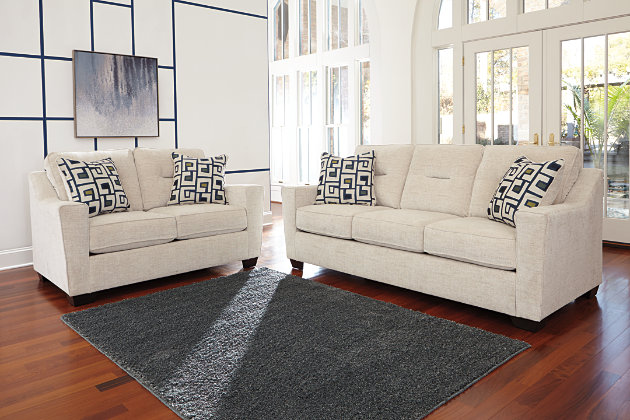 Cerdic Sofa and Loveseat by Ashley HomeStore, White