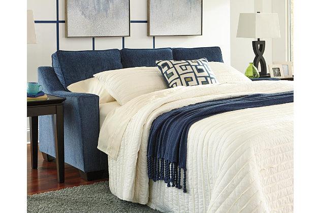 Cerdic Queen Sofa Sleeper by Ashley HomeStore, Blue, Poly...