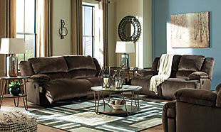 Clonmel Sofa, Loveseat and Recliner, Chocolate, large